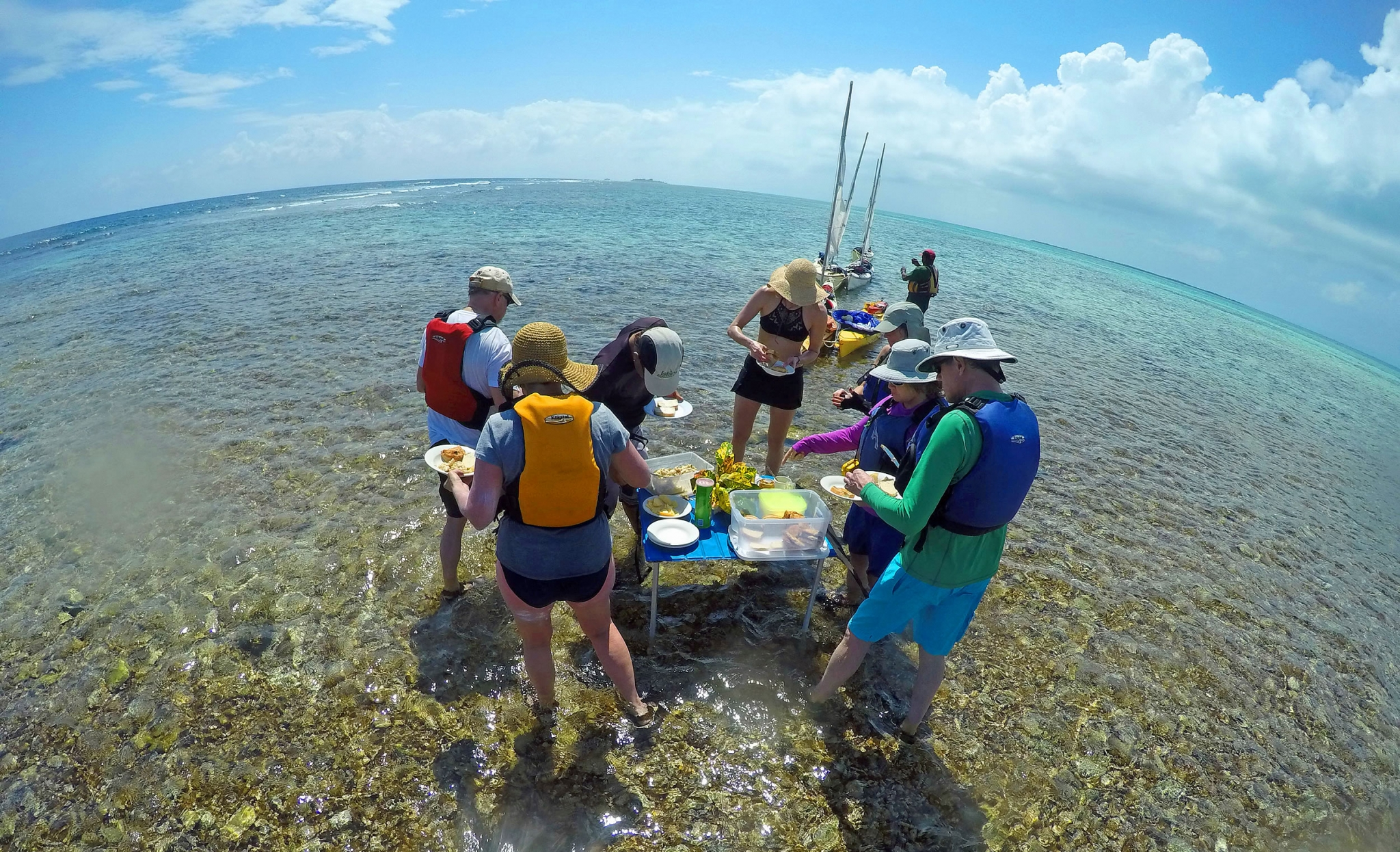 Water Lunch on the Belize Barrier Reef