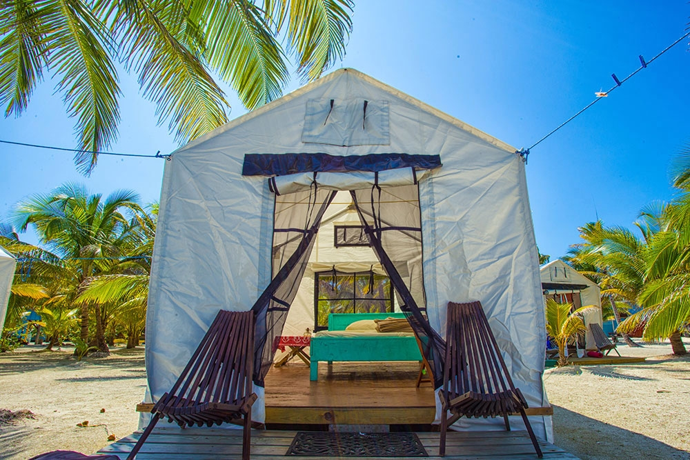 Tent Cabanas at the Glover's Reef Basecamp