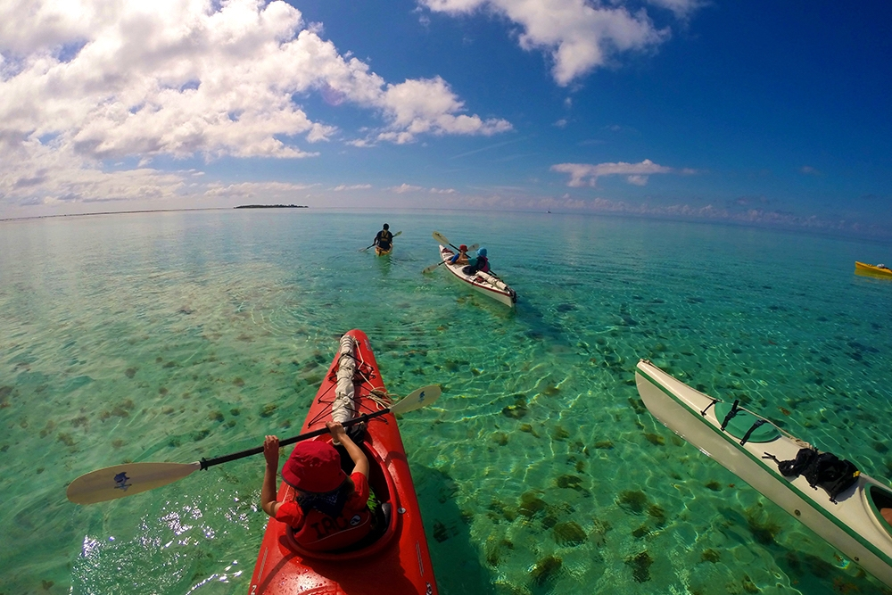 Sea Kayaking Glover's Reef Atoll