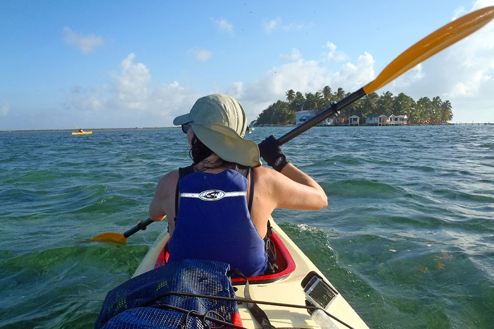 Sea Kayaking at Tobacco Caye