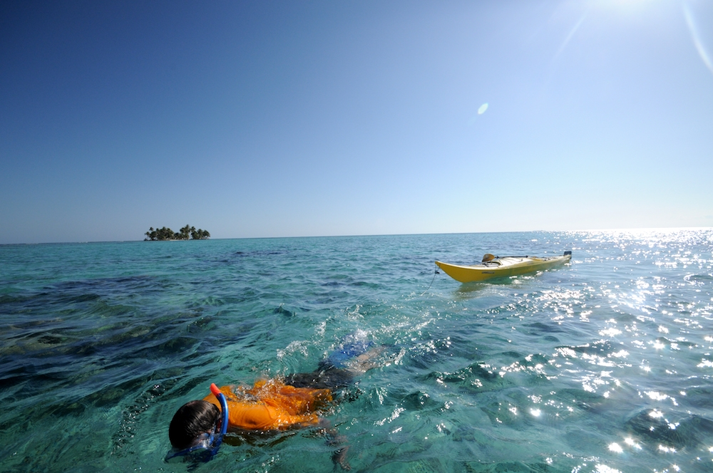 Kayak and Snorkeling in Belize