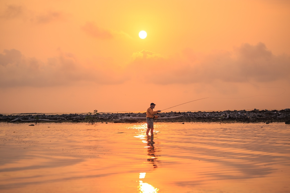 Fishing at Sunset in Belize