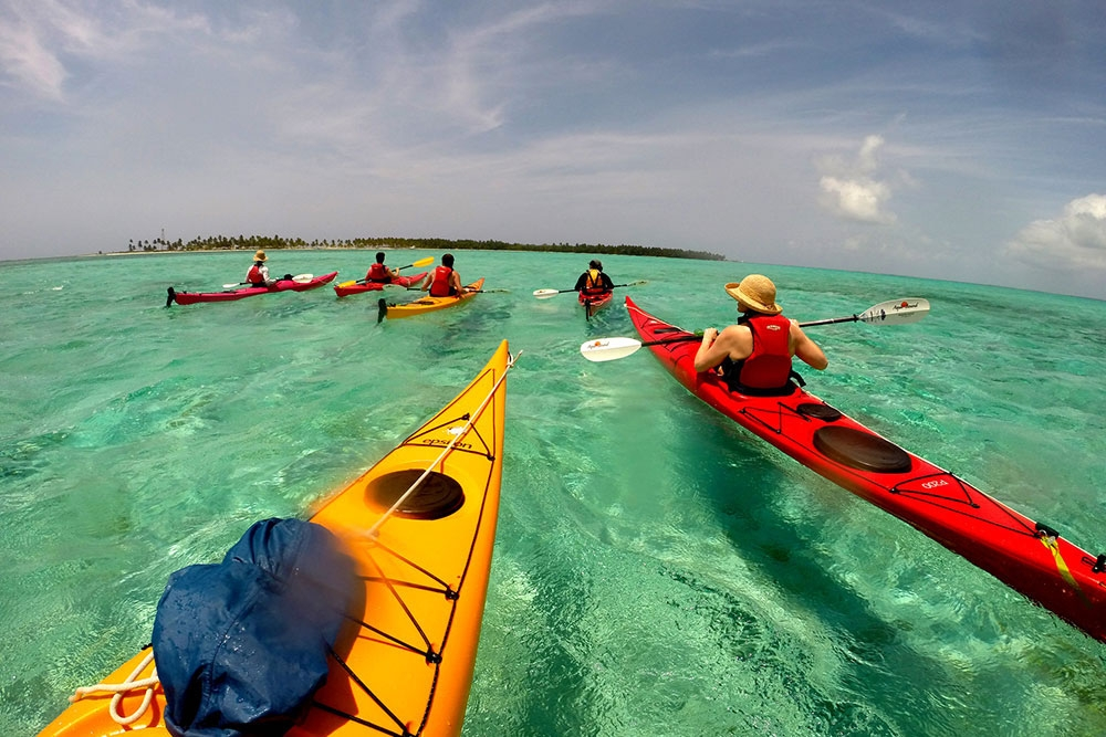Sea Kayaking, Lighthouse Reef Atoll