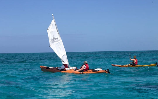 Sea kayaking on Half Moon Caye
