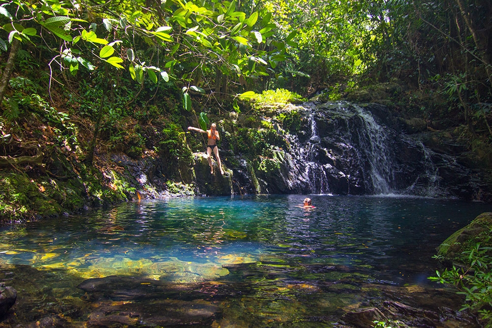 Cool off in one of the waterfalls at Bocawina