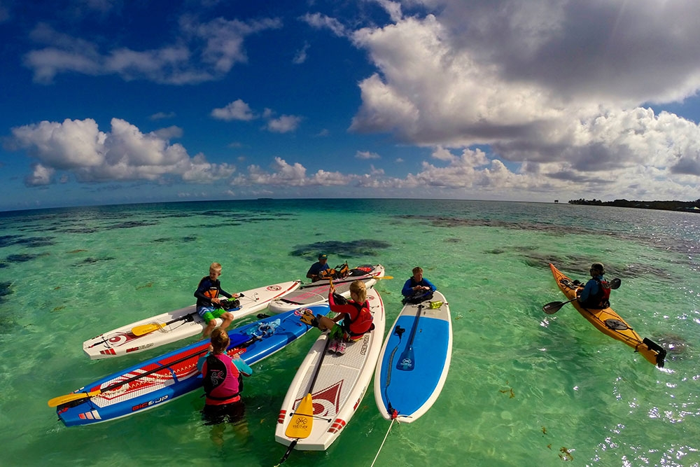 SUP on Glover's Reef Atoll