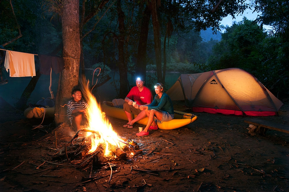 Jungle camping on the Moho River