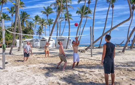 Volleyball at the Lighthouse Reef Basecamp