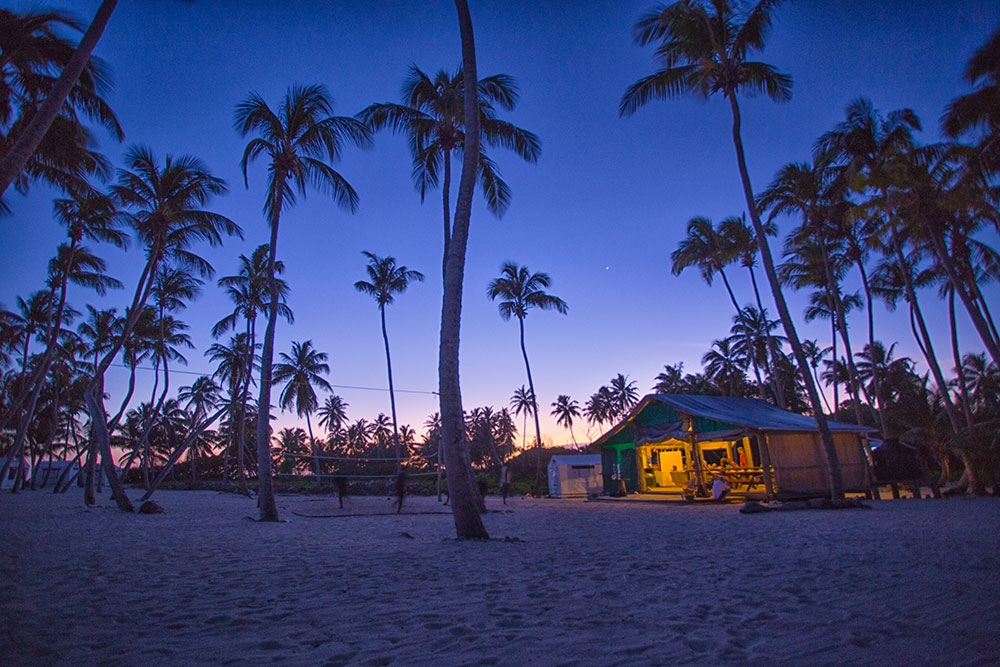 Dusk at Lighthouse Reef Basecamp on Half Moon Caye