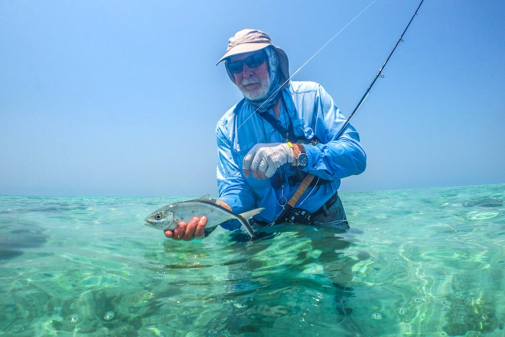 Fly fishing on Glover's Reef