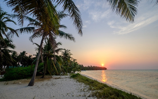 Sunset at Half Moon Caye